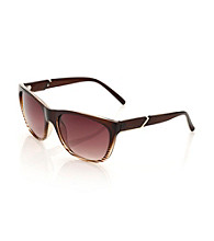 Calvin Klein Brown Stripes Square Wayfarer Sunglasses