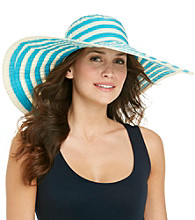Calvin Klein Ribbon Striped Sun Hat