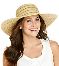 Calvin Klein Natural Lurex Striped Sun Hat