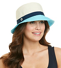 Calvin Klein Colorblock Ribbon Cloche Hat