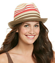 Calvin Klein Colorblock Ribbon Fedora