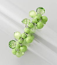 Studio Works® Green/Silvertone Stretch Shaky Bracelet