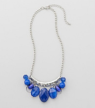 Studio Works® Blue And Silvertone Chain Necklace