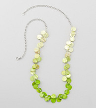 Studio Works® Green And Silvertone Strand Necklace