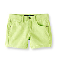 Imperial Star® Girls' 7-16 Limeade Twill Double Cuff Shorts