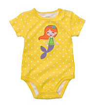 Carter's® Baby Girls' Yellow Dot Mermaid Applique Bodysuit