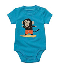 Carter's® Baby Boys' Bright Blue Surfing Monkey Applique Bodysuit