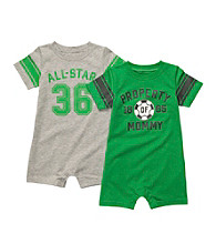 Carter's® Baby Boys' Green/Grey 2-pk. Sport Rompers