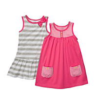Carter's® Baby Girls' Pink/Grey 2-pk. Striped Dresses