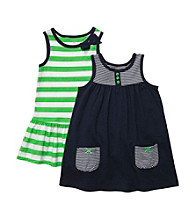 Carter's® Baby Girls' Green/Navy 2-pk. Striped Dresses