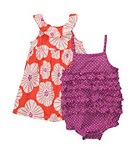 Carter's® Baby Girls' Purple/Orange Floral 2-pk. Sunsuit and Dress