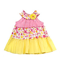 Rare Editions® Baby Girls' Yellow 3 Tier Ruffled Dress