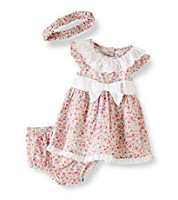 Little Me® Baby Girls' Dainty Rose Dress