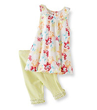 Little Me® Baby Girls' Watercolor Tunic and Capri Pants Set