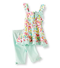 Little Me® Baby Girls' Blue Mosaic Tunic with Capri Pants Set