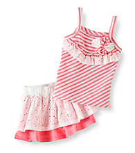 Nannette® Baby Girls' Pink 2-pc. Tank and Scooter Set