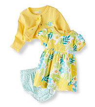 Vitamins Baby® Baby Girls' Yellow 2-pc. Floral Cardigan Dress Set