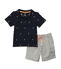 Carter's® Boys' 2T-4T Navy/Grey 2-pc. Anchors Shortset