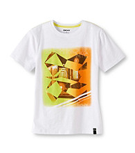 DKNY® Boys' 8-20 White Short Sleeve WTC Tee