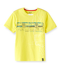 DKNY® Boys' 8-20 Yellow Short Sleeve Parkway Tee