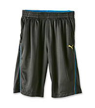 PUMA® Boys' 8-20 Black Performance Shorts