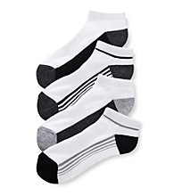 John Bartlett Statements Men's Stripe No Show Athletic Socks
