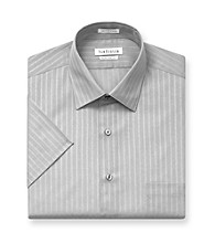 Van Heusen® Men's Grey Stripe Short Sleeve Dress Shirt