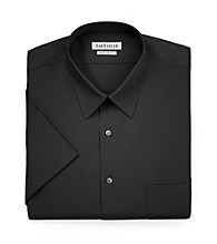 Van Heusen® Men's Black Short Sleeve Solid Poplin Dress Shirt