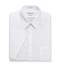 Van Heusen® Men's White Short Sleeve Solid Poplin Dress Shirt