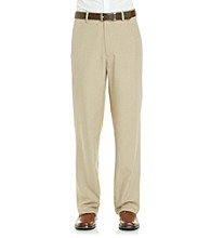 Haggar® Men's Khaki Mini Check Classic Fit Repreve Dress Pant