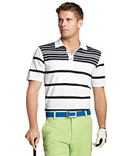Izod® Men's Bright White Engineered Stripe Polo