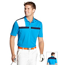 Izod® Men's Cloisonne Blue Colorblock Piece Polo