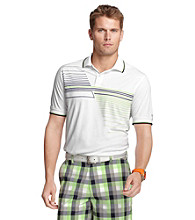 Izod® Men's Bright White Crossover Striped Polo