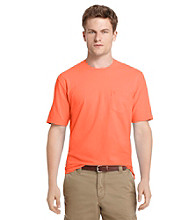 Izod® Men's Short Sleeve Solid Jersey Tee with Pocket