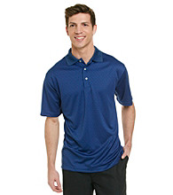 PGA TOUR® Men's Sofalite Blue Short Sleeve Mini Box Polo
