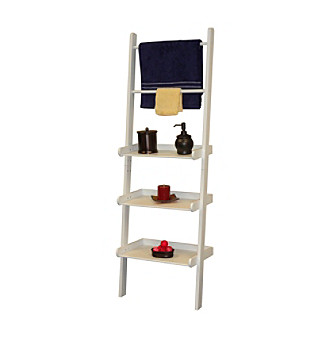 riverridge home products white bath ladder shelf and towel bar. Black Bedroom Furniture Sets. Home Design Ideas