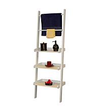 RiverRidge Home Products White Bath Ladder Shelf and Towel Bar
