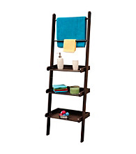 RiverRidge Home Products Espresso Bath Ladder Shelf and Towel Bar