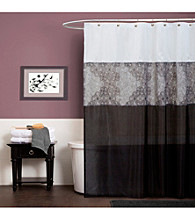 Lush Decor Anita Gray Shower Curtain