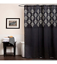 Lush Decor Isabella Black Shower Curtain
