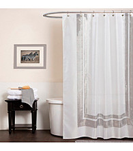 Lush Decor Jewel White Shower Curtain