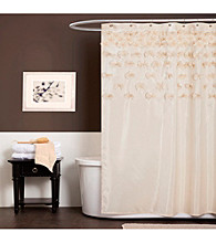 Lush Decor Lucia Ivory Shower Curtain