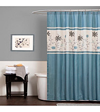 Lush Decor Monica Blue Shower Curtain