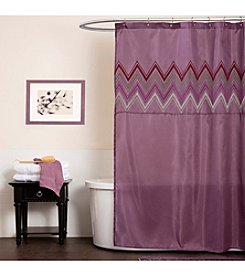 Lush Decor Myra Plum Shower Curtain