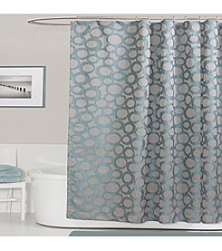 Lush Decor Orbit Blue Shower Curtain