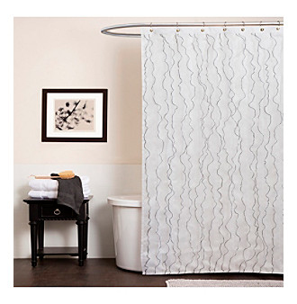 Product: Lush Decor Romana White Shower Curtain