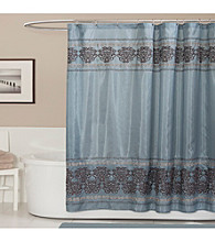 Lush Decor Royal Dynasty Blue Shower Curtain