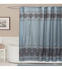 Lush Decor Royal Dynasty Blue Shower Curtain