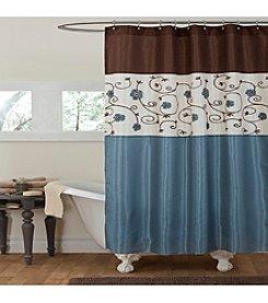 Lush Decor Royal Garden Blue Shower Curtain