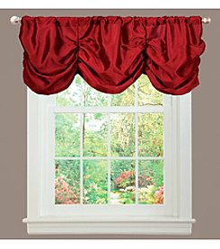 Lush Decor Estate Garden Red Valance